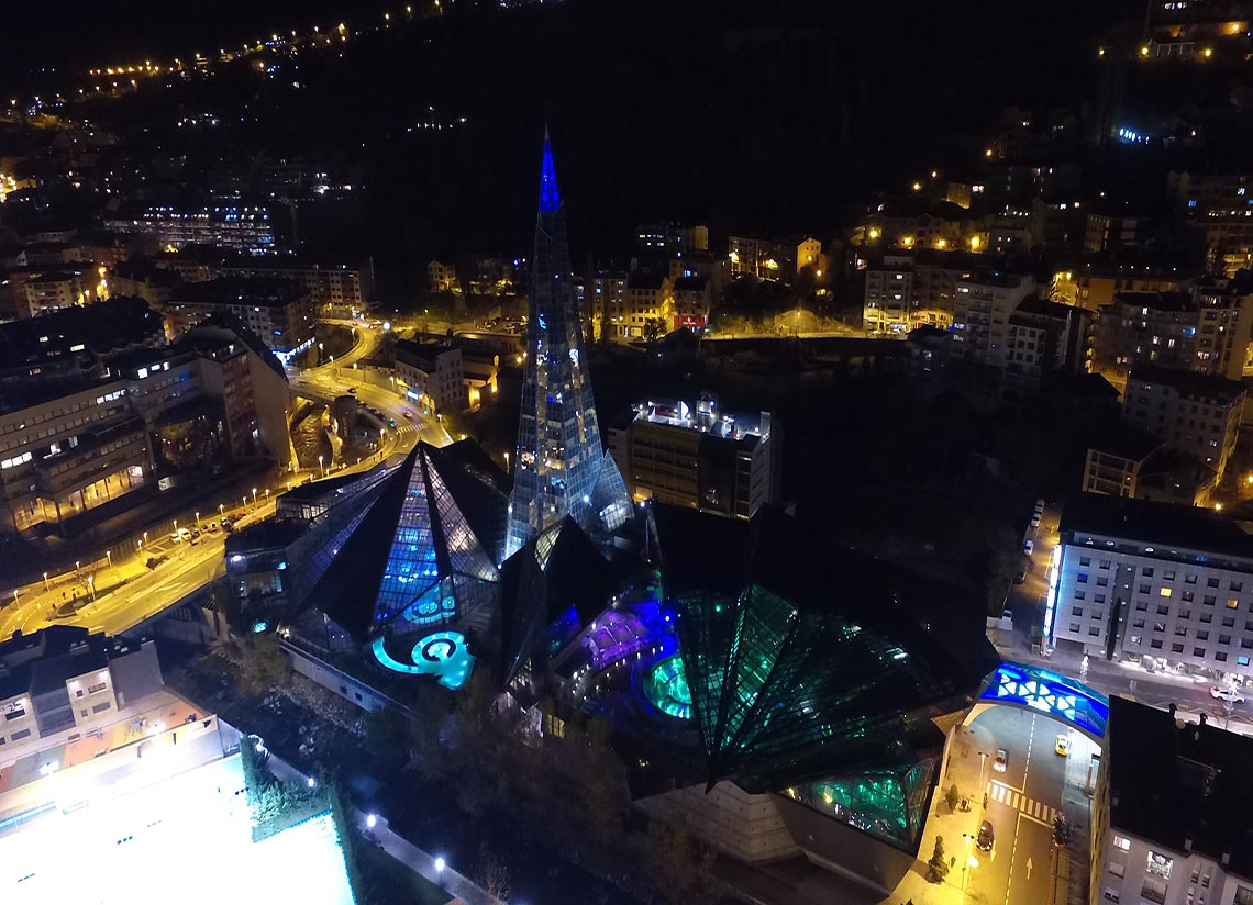 A magical Sant Joan night from the thermal waters of CALDEA in Andorra