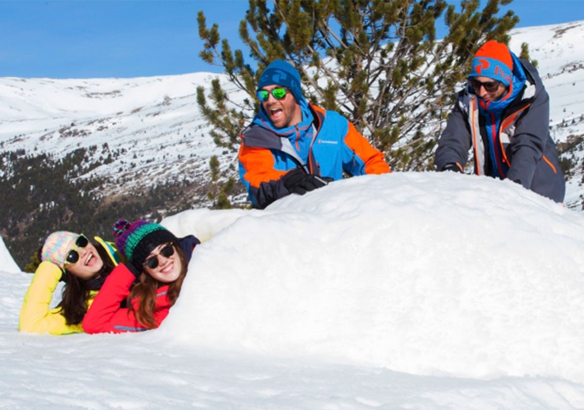 This winter, build an igloo before you visit CALDEA