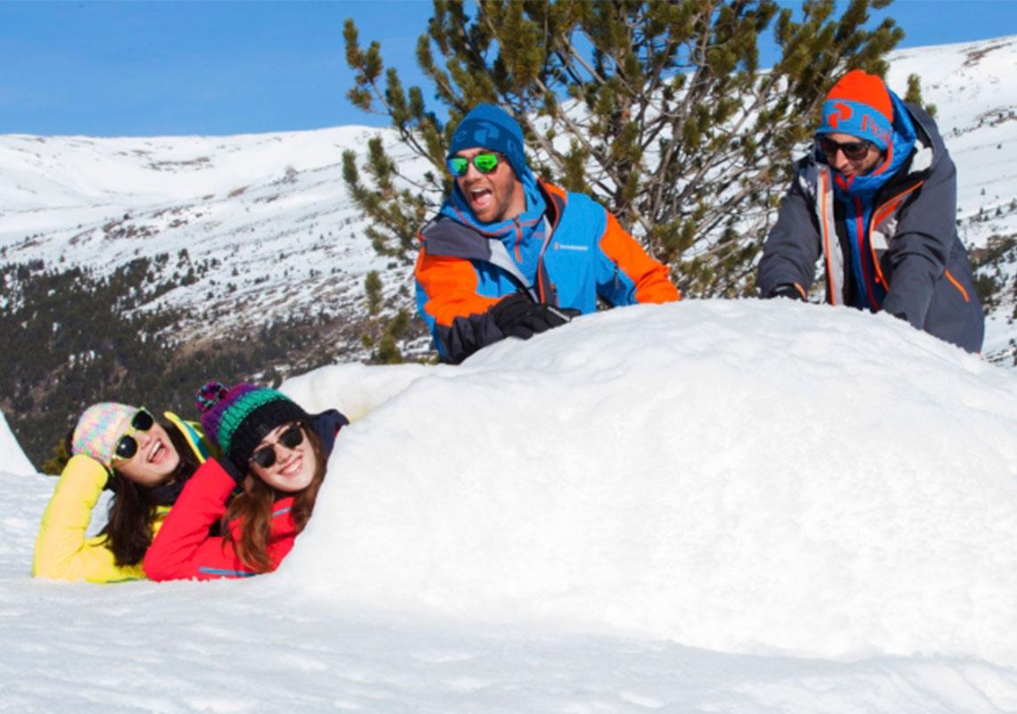 Este invierno construye un iglú antes de venir a CALDEA