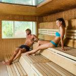 Relájate en la sauna de Caldea
